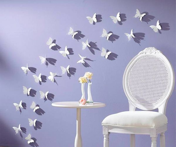 30 идей декора стен из бумаги