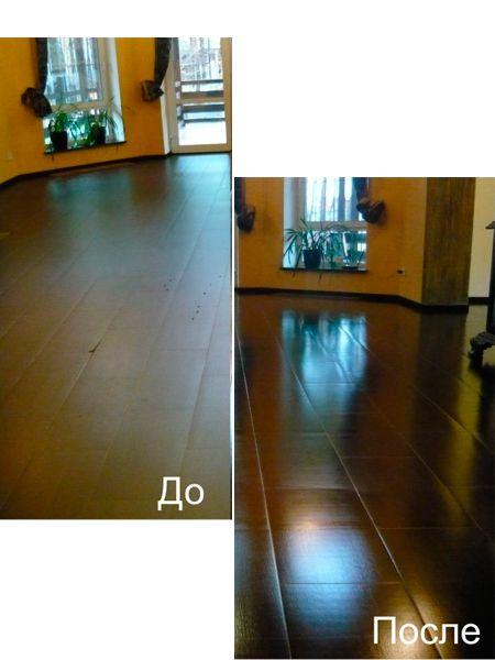 Кафельные стены и выложенный керамической плиткой пол мойте водой с нашатырем (в соотношении 2-3 ст. л. на 1 л), добавляя по желанию несколько капель блескообразователя для посудомоечной машины или стеклоочистителя. Стены после мытья рекомендуется протереть искусственной замшей.