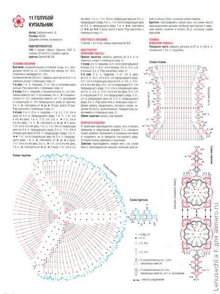 Вязаные купальники — схемы