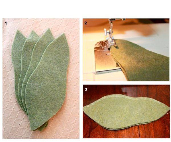 Сшейте детали между собой так, как показано на фото. Лучше всего использовать для этого швейную машинку.