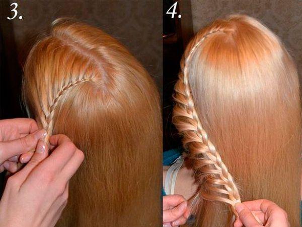 Необычные прически с косами, мастер-классы.