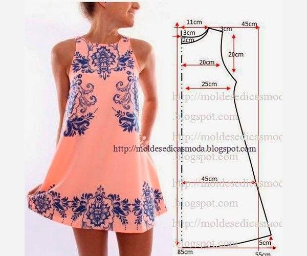 Выкройки летних платьев.