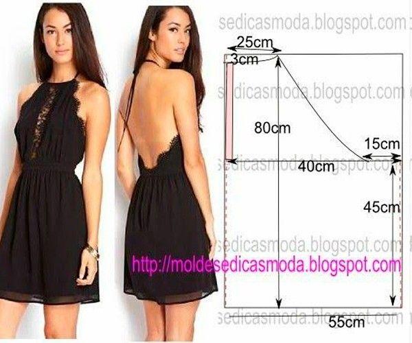 Выкройки летних платьев. С сайта moldesedicasmoda.blogspot.pt