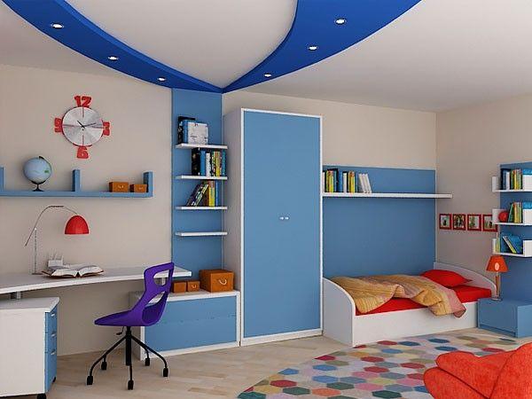 Синий цвет в интерьере детской комнаты, идеи.