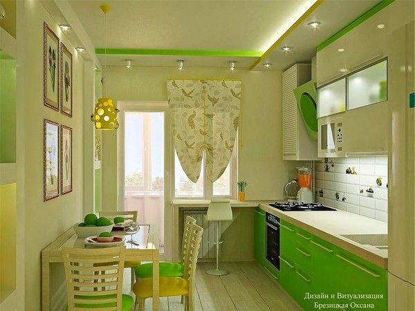 Интерьер дома в зеленых тонах