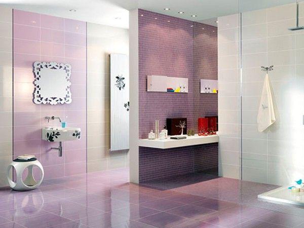 Ванная в фиолетовом цвете, идеи.