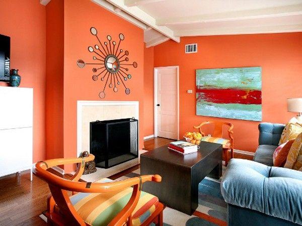 Яркие гостиные, идеи.