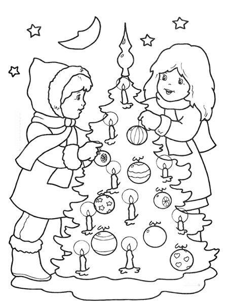 Новогодние раскраски для детей