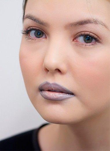 Макияж губ с эффектом омбре