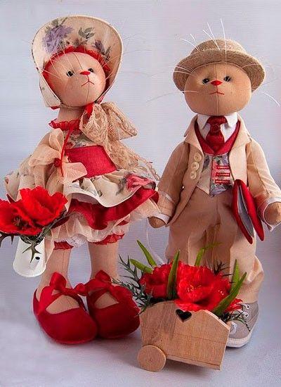 Интерьерные куклы, выкройки.