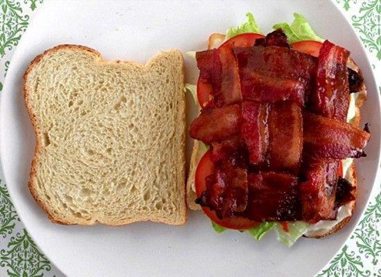 Волны из бекона для самого красивого бутерброда!