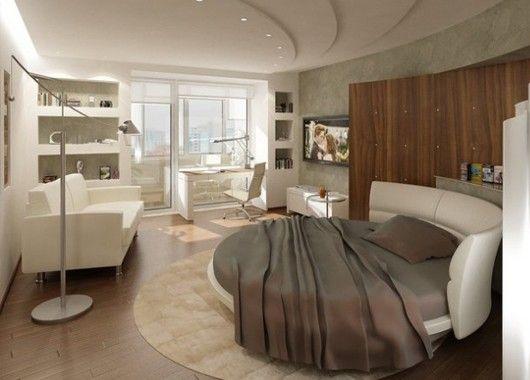 Большинство домашней утвари и предметов интерьера прямоугольные: ковры, столы, стулья, картины... Один из способов сделать комнату визуально более интересной - смягчить углы. Круглый ковер или кофейный столик оживят интерьер.
