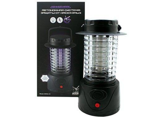 Антимоскитные лампы способны привлекать комаров светом, а потом уничтожать их разрядом электрического тока. Ток проходит по сетке, которая окружает лампу. Эффективное средство, но придется постоянно держать его включенным, так что потребуется источник электропитания.