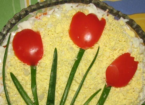 салат с курицей и киви и яблоком рецепт с фото