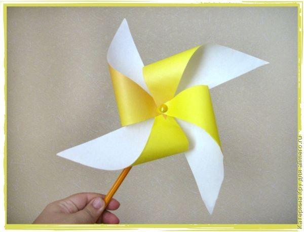 Ветряная мельница детская игрушка своими руками 32