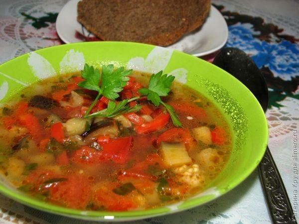 рецепт армянского супа с баклажанами