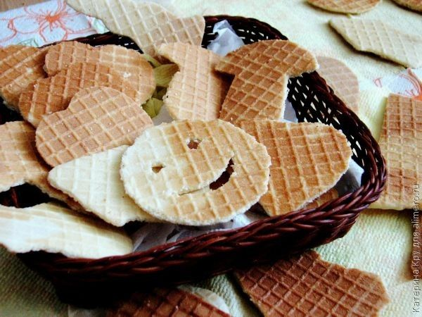 Вафельное печенье на сметане