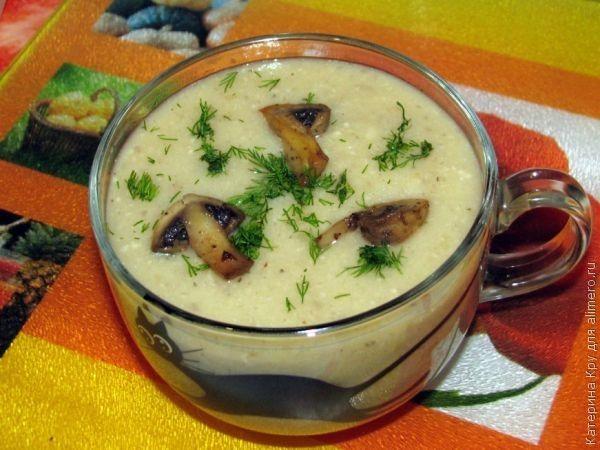 Грибной суп-пюре с цветной капустой