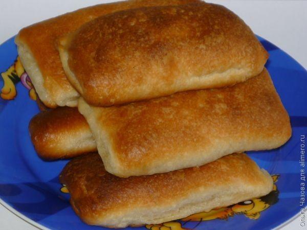 Слоеные пирожки с плавленым сыром