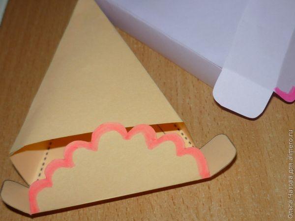 Торт из бумаги своими руками на день