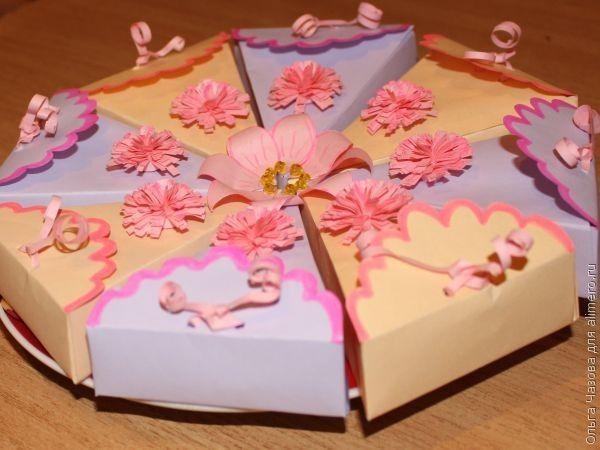 Сделать торт из бумаги шаблоны