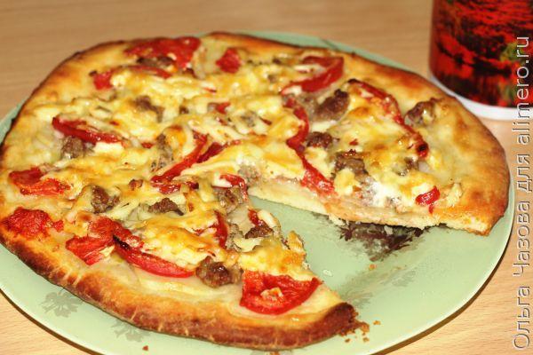 Тесто для пиццы без дрожжей на сметане и кефире