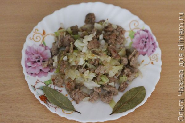Начинка для пирогов с капустой и фаршем