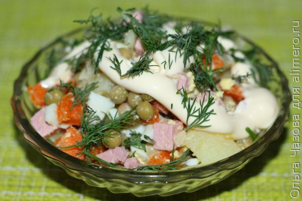 Советский вариант салата Оливье