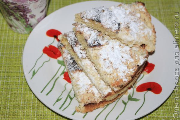 Сладкий тертый пирог