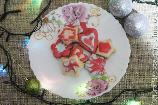 Печенье на Новый год с глазурью