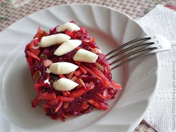 рецепты салатов из свежей моркови и свеклы