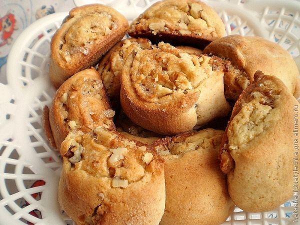 рулет с грецким орехом и медом рецепт с фото
