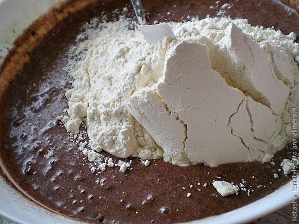 шоколадный пирог (кулич)