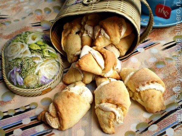 Рогалики с начинкой, печенье