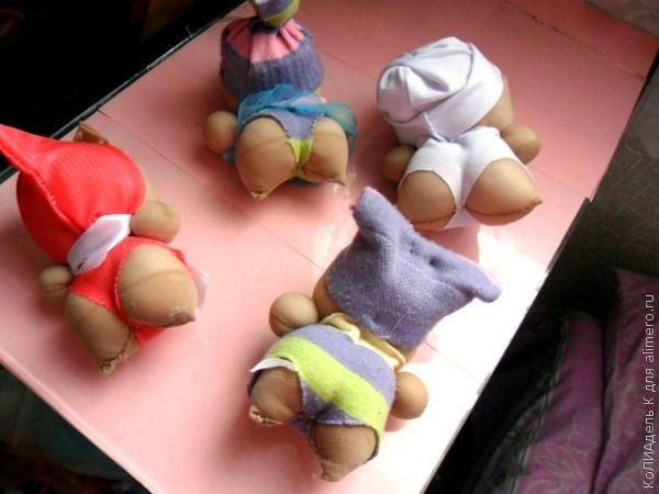 Куклы из капроновых носков своими руками фото 417