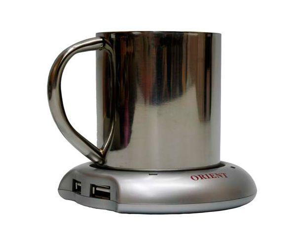 USB хаб с подогревом для чашки обеспечит вашего любимого горячим чаем даже в самый сильный мороз. Некоторые модели оснащены часами.