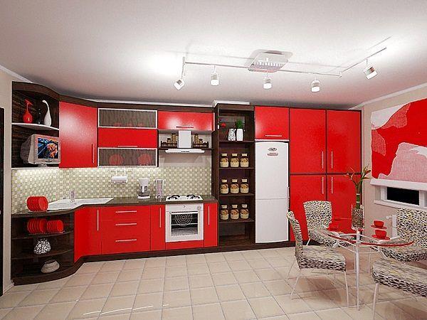 Ковер — большая редкость на современной кухне, и это сыграет вам на руку: аксессуар поможет легко и быстро разнообразить интерьер. Желательно выбрать такую модель, которую можно стирать.