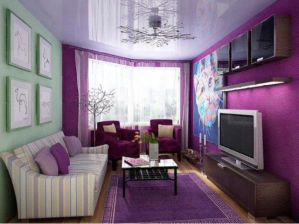 Белые стены при обновлении гостиной обязательны, если вы планируете в дальнейшем, после ремонта, добавлять яркие контрастные вещи в комнату.