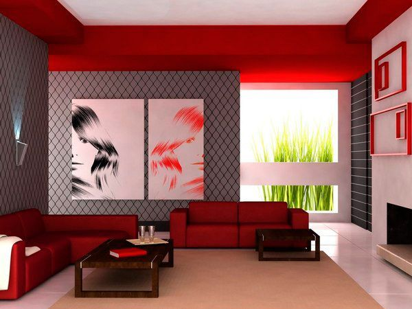 Создайте точки фокуса, за которые будет «цепляться» взгляд. Необязательно выкрашивать стены в ярко-оранжевый цвет. Достаточно правильно расставить акценты – нейтральный цвет стен с контрастным ярким журнальным столиком посередине комнаты, оригинальными яркими вазонами.