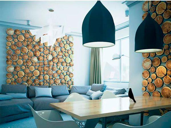 Дерево требует такта: активное использование материала для пола, потолочных перекрытий и стен исключает засоренность пространства. Чем меньше предметов, тем лучше (минималистичный столик, сдержанная мебель), больше света и мягких материалов.