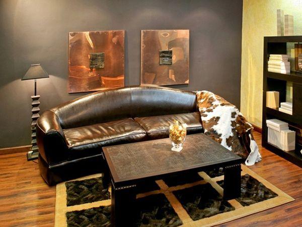 В современном дизайне интерьера наряду с натуральными кожами часто применяют и искусственные. Искусственная кожа по своей сути — это слой состоящий из полимеров каучука, латексов или других компонентов, который наносится на тканую либо нетканую основу.