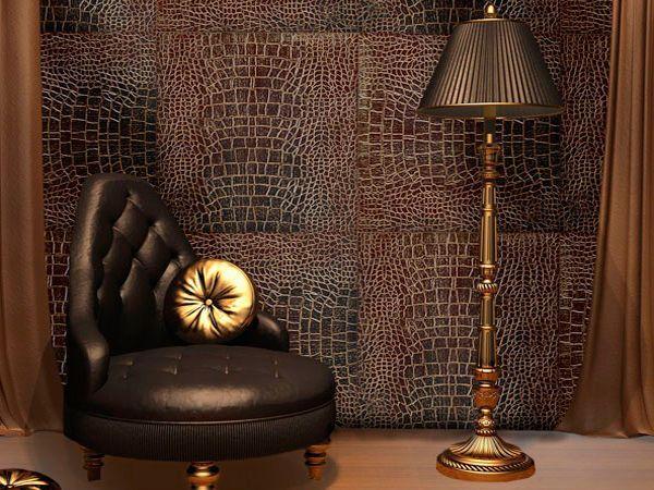 Также очень часто в интерьерах используются кожаные коврики с самой оригинальной структурой, например, в виде стриженой замши или крученых и плетеных лент и шнуров или просто в виде гладкой поверхности. Кстати, необычайно эффектны комбинированные ковры из кожи и меха.