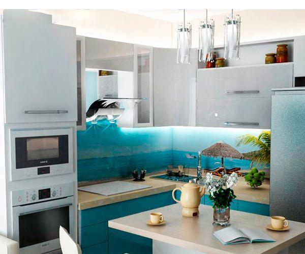 Современные вытяжки способны полностью бороться с неприятными запахами на кухне, поэтому необязательно использовать входные двери на кухне, которые ограничивают кухню и, к тому же, забирают свободное место.