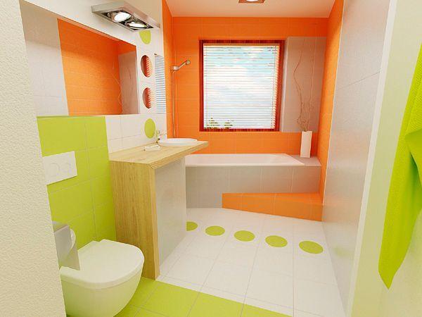Используя в ванной комнате много белого цвета, вы сможете себе позволить практически любую яркость и даже пестроту цветной плитки.
