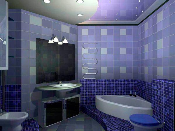 Фиолетовые тона являются довольно темными, поэтому не желательны для малогабаритных помещений, во всяком случае, в качестве основы. В сочетании с такими оттенками, как серый, синий, красный, зеленый, малиновый и розовый смотрится просто отлично.