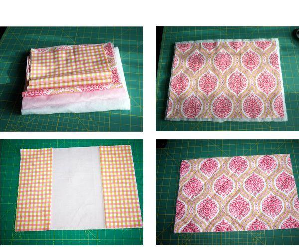 На синтепон накладываем ткань, закрепляем и делаем  диагональные строчки на расстоянии 5 см. друг от друга в одну сторону, затем в другую, чтобы у нас получились квадраты 5*5 см. Выглядывающий по краям синтепон после того, как сделали стежку отрезаем.