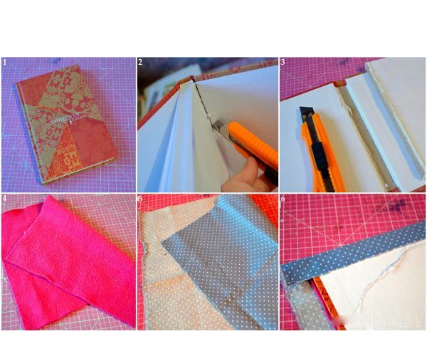 Приклеиваем флис к обложке и кладем обложку на ткань. Теперь начинаем приклеивать ткань. Сначала приклеиваем верх и них, затем приклеиваем аккуратно уголки. После того как уголки готовы – приклеиваем левую и правую сторону обложки.