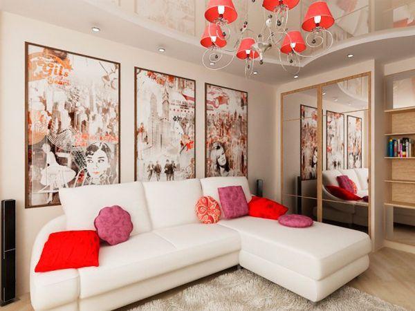 Яркие элементы в интерьере квартиры — 34 идеи