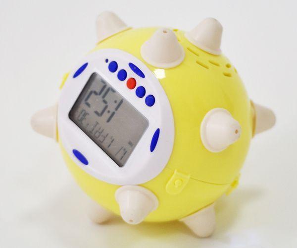 Подруга любит поспать? Подарите ей бешеный будильник, который будет прыгать, как мячик, пока его не отключишь!