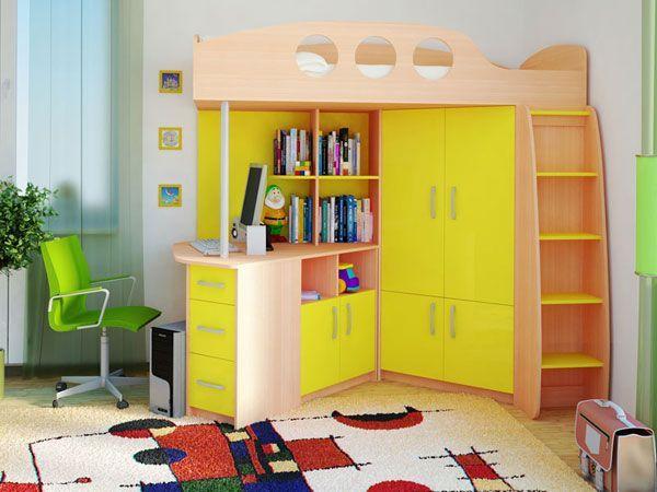 Рабочее место в интерьере детской комнаты — 25 идей
